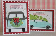 Nichol Spohr Magouirk: KBS | Holiday Vehicle Cards + Adding Texture to Die Cuts (video)