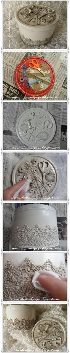 Tutorial ♥ ziper e artigos de costura