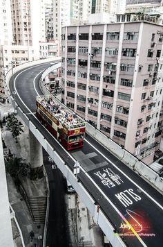 Roller Coaster, Hong Kong (by Joey Kwok) City Landscape, Urban Landscape, City Vibe, Cities, City Aesthetic, Japanese Streets, Slums, City Photography, Cyberpunk