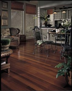 Exotic hardwood floor