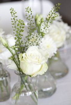 Top 5 Never Been Seen Wedding Table Centerpieces - Put the Ring on It Diy Wedding, Rustic Wedding, Wedding Reception, White Centerpiece, Centerpieces, Wedding Bouquets, Wedding Flowers, Deco Floral, Christmas Table Settings