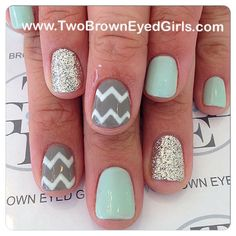Chevron Summer Nail Art Design