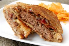 Gouda Bacon Patty Melts with Marsala Mushrooms and Onions