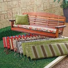 53 X 14 Porch Swing And Glider Cushion