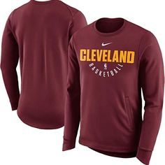 NIKE Cavaliers Therma Crew Sweatshirt Lebron James NEW WITH TAGS and sold  out Everywhere GAME- 432c007aae28