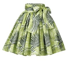 Image of Flow Skirt (Palm Leaf Print) African Dresses For Kids, Latest African Fashion Dresses, African Dresses For Women, African Attire, African Print Skirt, African Print Dresses, African Print Fashion, Image, Metallic Skirt