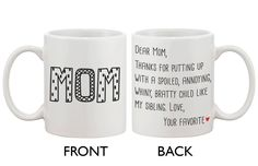 Is your mother a coffee or tea drinker? If so, she'll love this ceramic coffee mug! It makes an excellent gift idea for the Holidays or for Mother's day. Best Gift Ideas for Holiday, Christmas, Valent