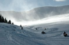 White Mountain Snowmobile Tours. This was so much fun!