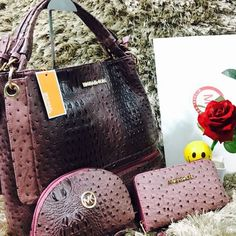 Michael Kors Stylish Handbags For Women - Purple Shaded #womenbags #handbags #handbagsfashion #clutches #womenfashion