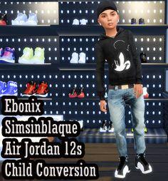 Ebonix | SimsInBlaque Child Nikes & Jordans