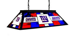 """New York Giants Imported 40"""" Glass Lamp"""