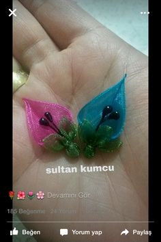 This Pin was discovered by Nur Organza Flowers, Cloth Flowers, Diy Flowers, Flower Decorations, Fabric Flowers, Ribbon Art, Ribbon Crafts, Flower Crafts, Paper Quilling Jewelry