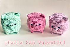 Happy Valentine Days #Crochet #Amigurumi