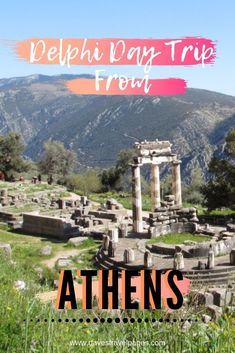 Delphi Day Trip From Athens - Plan your Athens to Delphi Tour Take a trip to the center of the Ancient Greek universe on a full-day tour of Delphi. Visit the UNESCO World Heritage Site of Delphi. Travel Europe Cheap, European Travel Tips, Travel Usa, Santorini, Mykonos Greece, Crete Greece, Athens Greece, Greece Vacation, Greece Travel