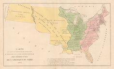 1825 Carte de L'Adjonction Progressive des Divers Etats au Territoire et a L'Union Constitutionalle des Etats-Unis de L'Amerique du Nord