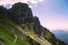 The Strada delle 52 Gallerie trail alternates between a dirt track and tunnels…