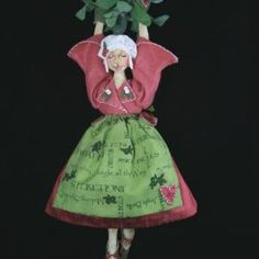 Give Us a Kiss Pattern Doll Making Equipment Christmas Decorations, Christmas Ornaments, Holiday Decor, Blanket Stitch, Doll Maker, Cross Stitch Kits, Simple Shapes, Mistletoe, Embroidery Kits
