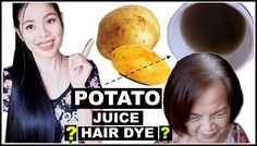 TRY DIY Potato Peel As A Natural Hair Dye- REVERSING GREY HAIR? DOES IT ...