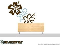 3 Large Hibiscus Flowers Stickers Decals Vinyl by thestickerhut, $29.99