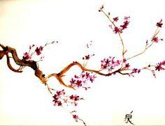 Sakura tree - watercolour: tattoo inspiration