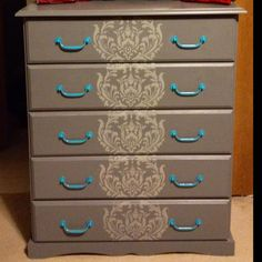 My Refurbished Cheat of Drawers! Amazing what a little paint can do!