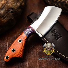 ALONZO KNIVES USA CUSTOM HANDMADE TACTICAL CLEAVER 1095 KNIFE PAKKA WOOD 3207 #AlonzoKnives
