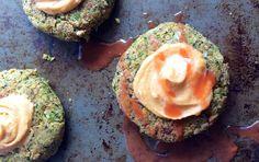 "Broccoli Chickpea Burgers with Spicy Cashew ""Mayo"" | Recipe"