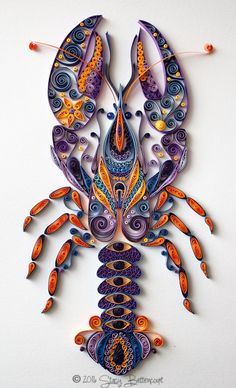 Quilled Stylistic Lobster