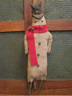 Snowman,  on sale now on Green Creek Primitives blog