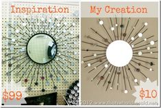 Make a beautiful Sunburst Mirrror from a Candle Holder and circle mirr… :: Hometalk