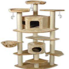 ir a club mascota gato árbol, 80 pulgadas, color beige