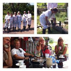 Entusiastiskt gäng på besök #Sweden #farmlife #farmerforaday  #bondeförendag #gofarmtrip #gonaturetrip
