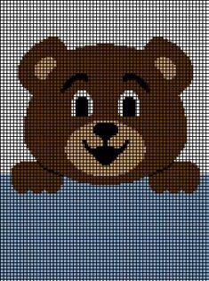 Teddy Bear Hanging On Crochet Pattern - - Skill Level: Beginner. Crochet Teddy Bear Pattern, Knitted Teddy Bear, Crochet Patterns Amigurumi, Crochet Blanket Patterns, Baby Knitting Patterns, Baby Patterns, Crochet Baby, Cross Stitch Patterns, Graph Crochet