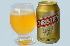 Cerveja Christies Gold Beer Shandy, estilo Sem álcool, produzida por Swaziland Brewers, Suazilandia. 0.5% ABV de álcool.