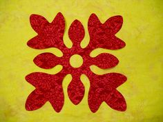 hawaiian quilt block floral design patterns | You could quickly create blocks for a Hawaiian style quilt, pillow ...