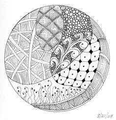 Zentangle circle