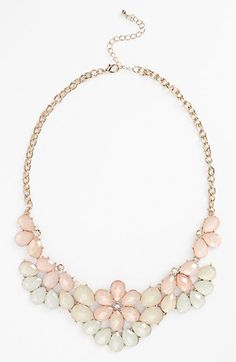BP. Teardrop Floral Statement Necklace (Juniors) available at #Nordstrom