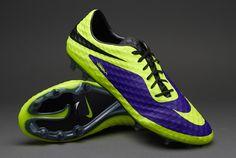 Nike Football Boots - Nike HyperVenom Phantom FG - Firm Ground - Soccer Cleats - Electro Purple-Volt.  Best looking boots I've seen. EU size 44. #pdsmostwanted