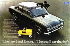 1968 Ford Escort - The small car that isn't - Original Ad