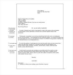 Sample complaint letter sample complaint letter pinterest formal letter of complaint sample formal letter of complaint template cover letter sample 10 business complaint letter templates free sample example spiritdancerdesigns Choice Image