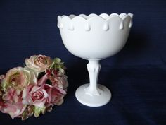 Vintage Indiana Glass Co White Milk Glass Tear by SecondWindShop, $9.50