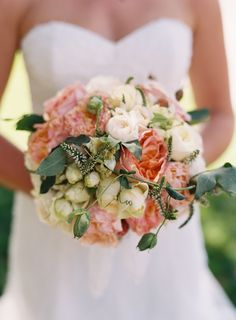 Peony + Rosebud #bouquet.   Photography: Cooper Carras - coopercarras.com  Read More: http://www.stylemepretty.com/california-weddings/2014/06/24/elegant-and-relaxed-ranch-wedding/