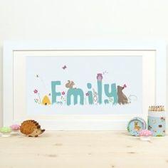 Personalised Child's Name Woodland Print