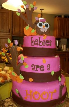 Pinterest baby owl decorations and cakes | The owl cake...I'm pretty darn proud of that little owl...complete ...