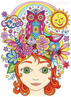Nature Girl By Thaneeya McArdle Coloring Pages For Girls Book