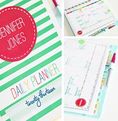 Awesome personalized daily planner printables from I Heart Organizing - everything you need in an oh-so-pretty package!