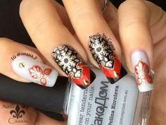 Red x Gold Kaleidoscope Mani - Nails by Cassis #nails #nailart #nailstamping #ciciandsisi #cicisisi #picturepolish