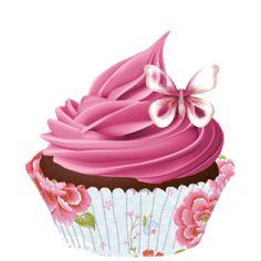 ᗰу ᏞíƖ Çupçɑƙє Mini Cupcakes, Ice Cream Cupcakes, Art Cupcakes, Cupcake Drawing, Cupcake Art, Cupcake Quotes, Cupcake Clipart, Decoupage, Bakery Business Cards
