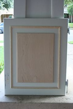 Adding Trim To Kitchen Cabinets adding trim to existing plain kitchen cabinet doors. this is my
