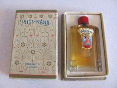 VINTAGE 1930's GROSSMITH LONDON..PHUL-NANA PERFUME in original box. Mass-